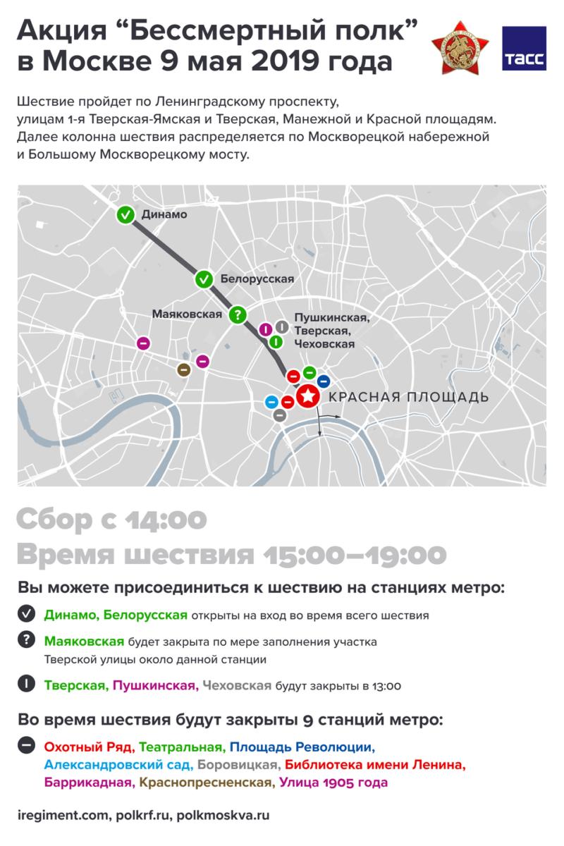 """Где пройдет """"Бессмертный полк"""" в Москве и как лучше к нему подготовиться"""