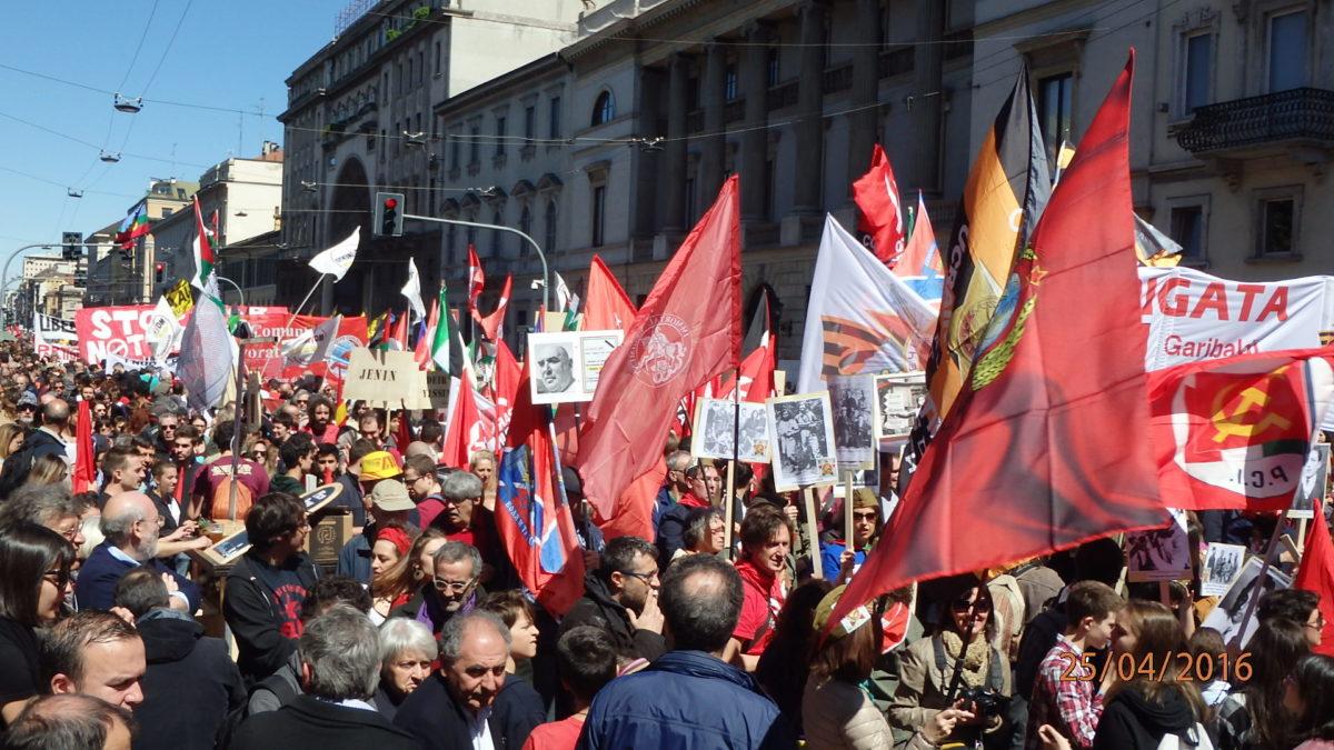 Бессмертный полк в Италии (Милан), 25 апреля 2016 года