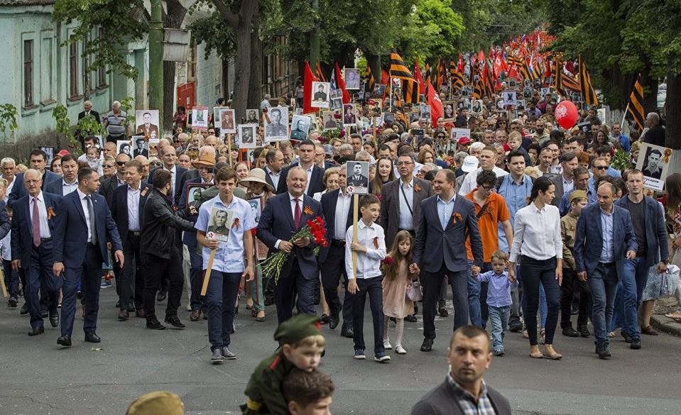 Бессмертный полк в Кишиневе (Молдавия), 9 мая 2018 года