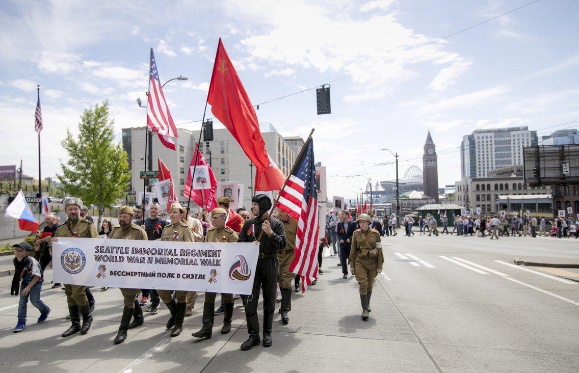 Бессмертный полк в Сиэтле (США), 6 мая 2018 года