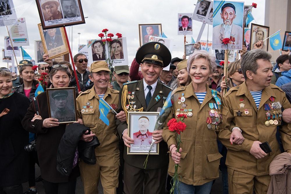 Бессмертный полк в Астане (Казахстан), 2018 год