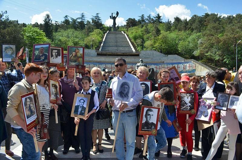 Бессмертный полк в Тбилиси (Грузия), 9 мая 2018 года