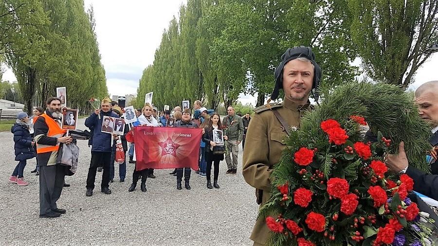 Бессмертный полк в Дахау (Германия), 2017 год