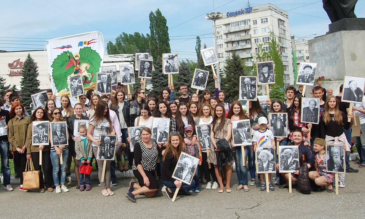 Бессмертный полк в Кишиневе (Молдавия), 6 мая 2016 год