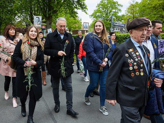 В акции «Бессмертный полк» в Германии русские шли рядом с немцами