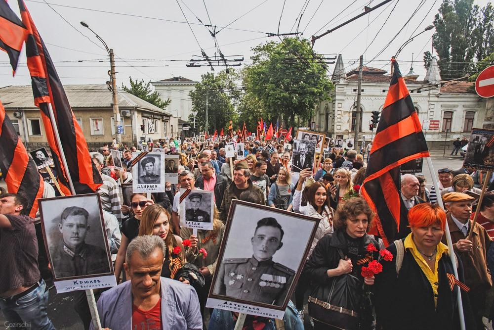 Бессмертный полк в Кишиневе (Молдавия), 9 мая 2017 год
