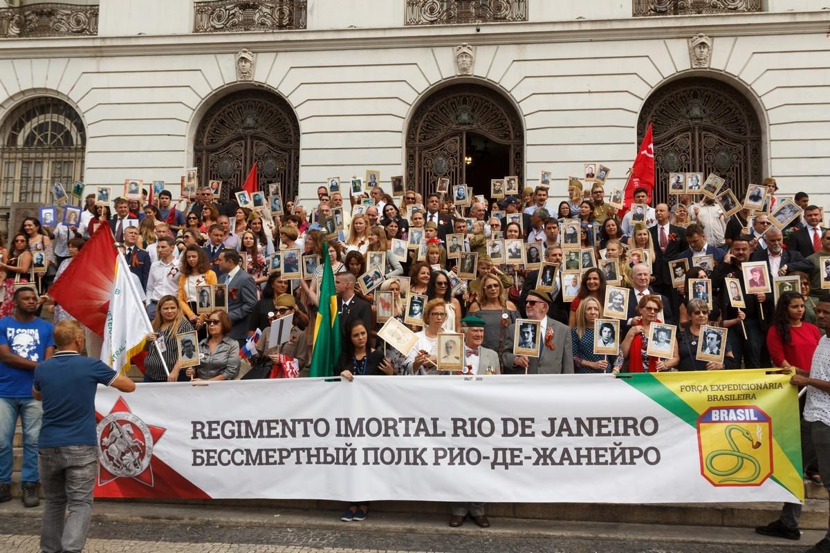 Бессмертный полк в Рио-де-Жанейро (Бразилия), 9 мая 2018 года
