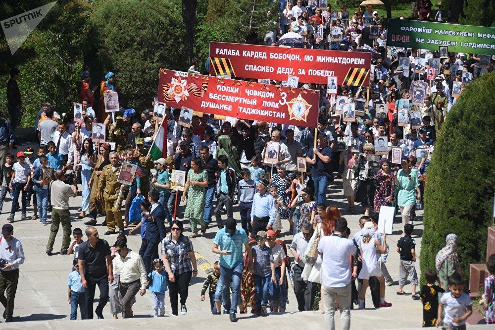 Бессмертный полк прошел в Душанбе