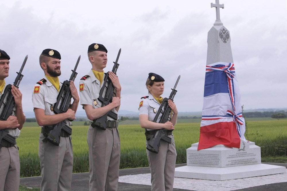 Торжественное открытие обелиска памяти воинов Русского экспедиционного корпуса