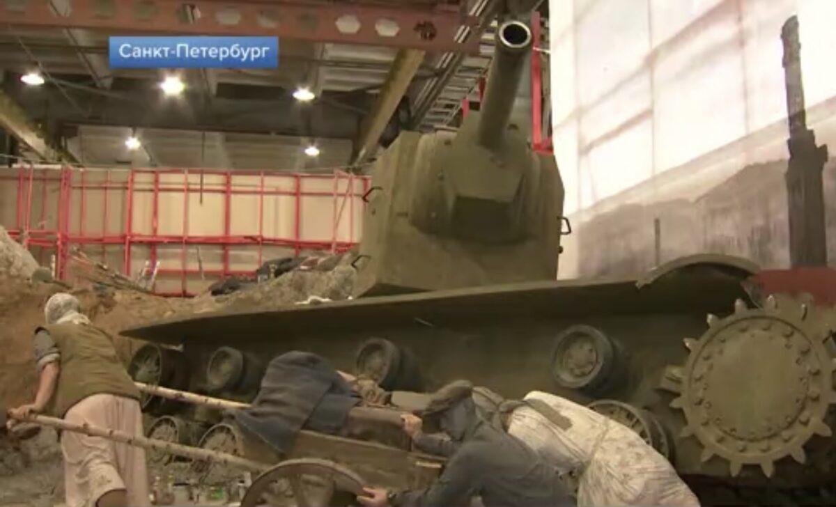 В Санкт-Петербурге журналистам показали, как создают масштабную панораму «Дорога через войну»