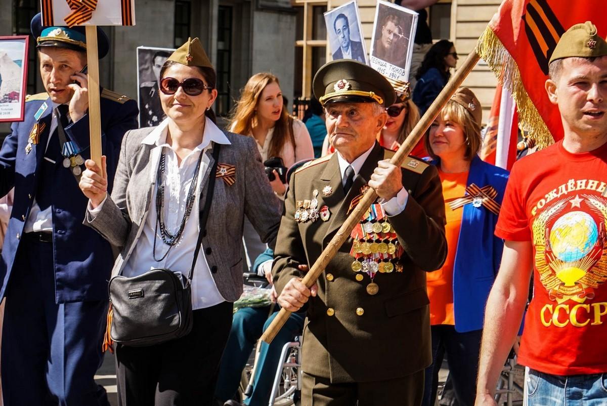 Бессмертный полк в Лондоне (Великобритания), 9 мая 2018 года