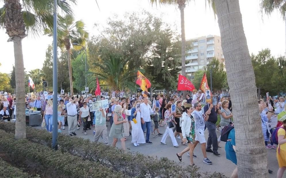 Бессмертный полк в Лимасоле (Кипр), 9 мая 2018 года