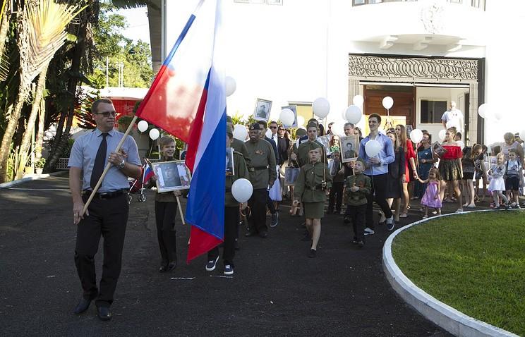 Бессмертный полк во Флореале (Маврикия), 2018 год
