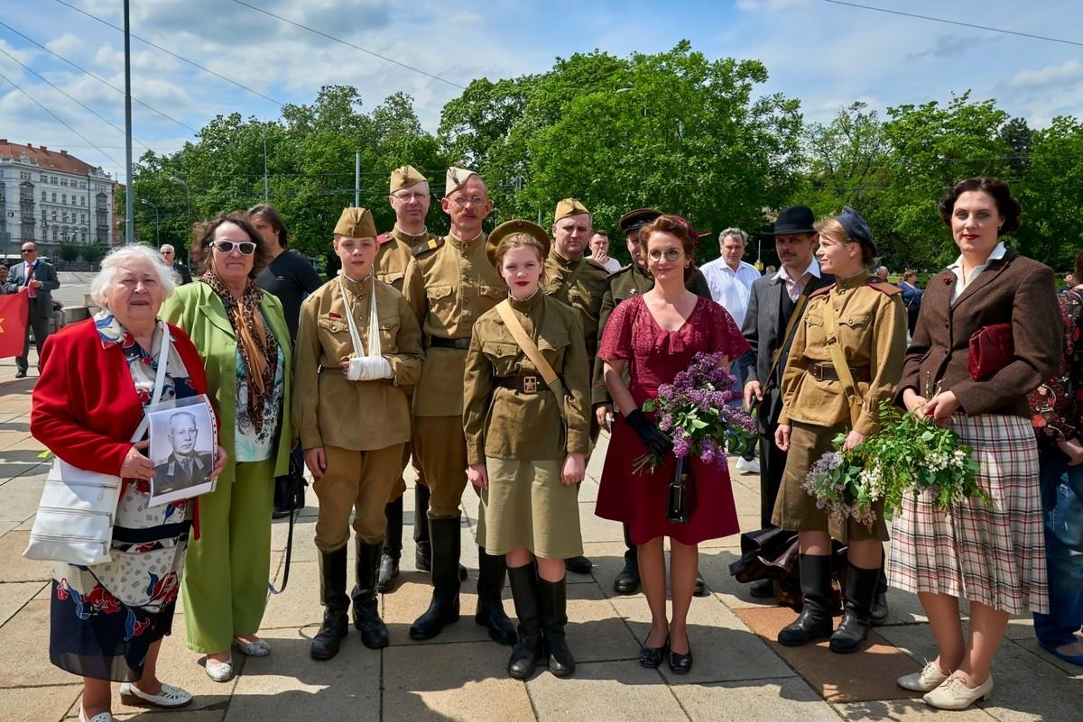 Бессмертный полк в Брно (Чехия), 8 мая 2016 года