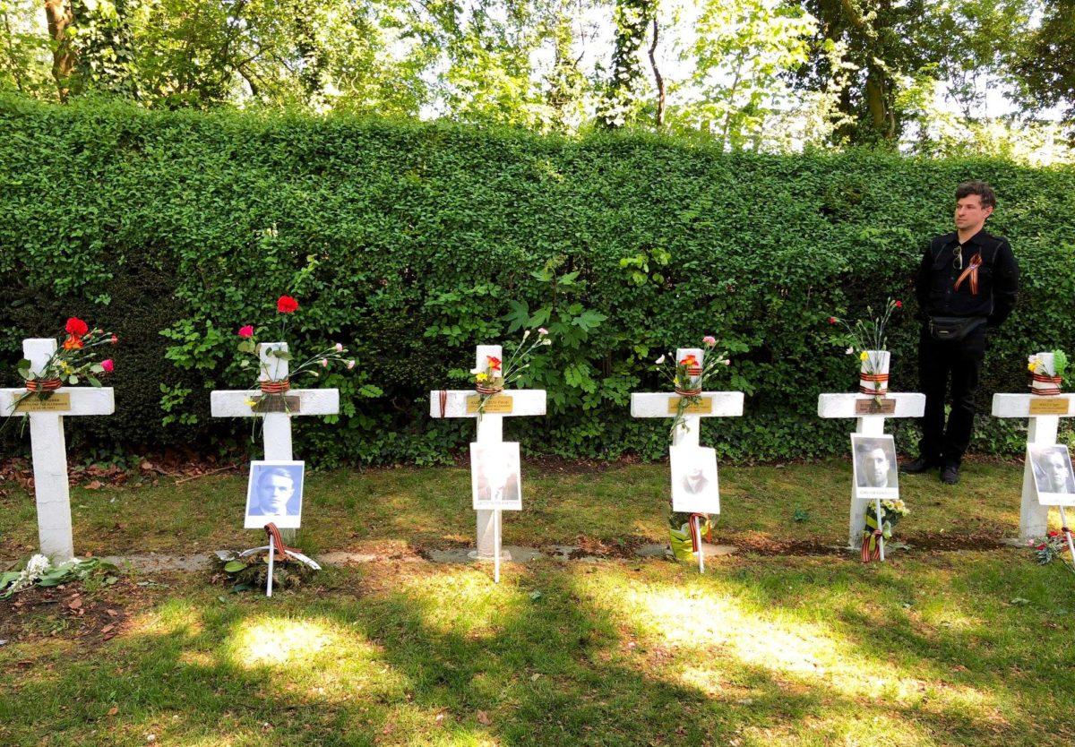 Воинский мемориал «Стена расстрелянных», в котором покоятся останки военнопленных, расстрелянных немецкими оккупантами, в городе Льеж, Бельгия