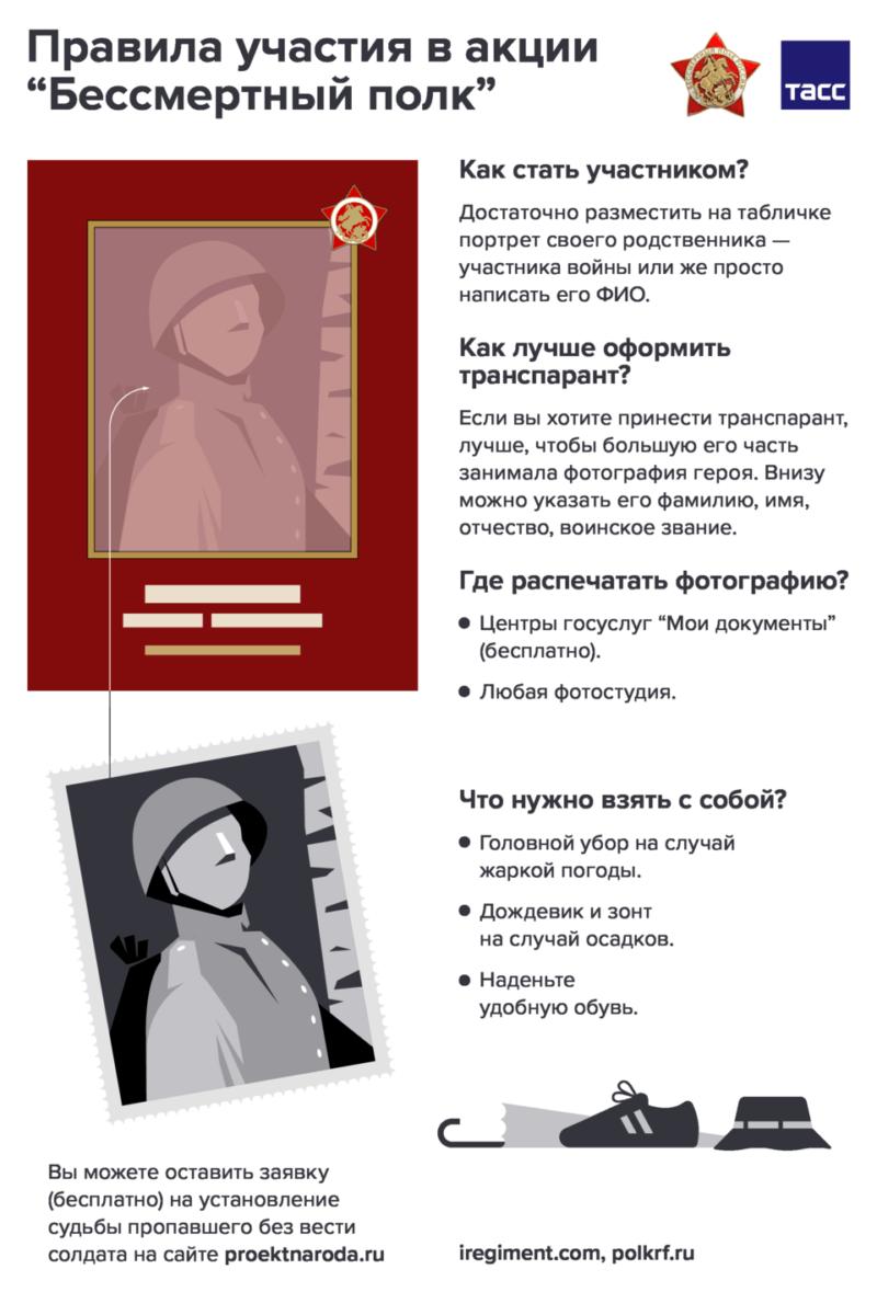 """Как принять участие в акции """"Бессмертный полк"""""""
