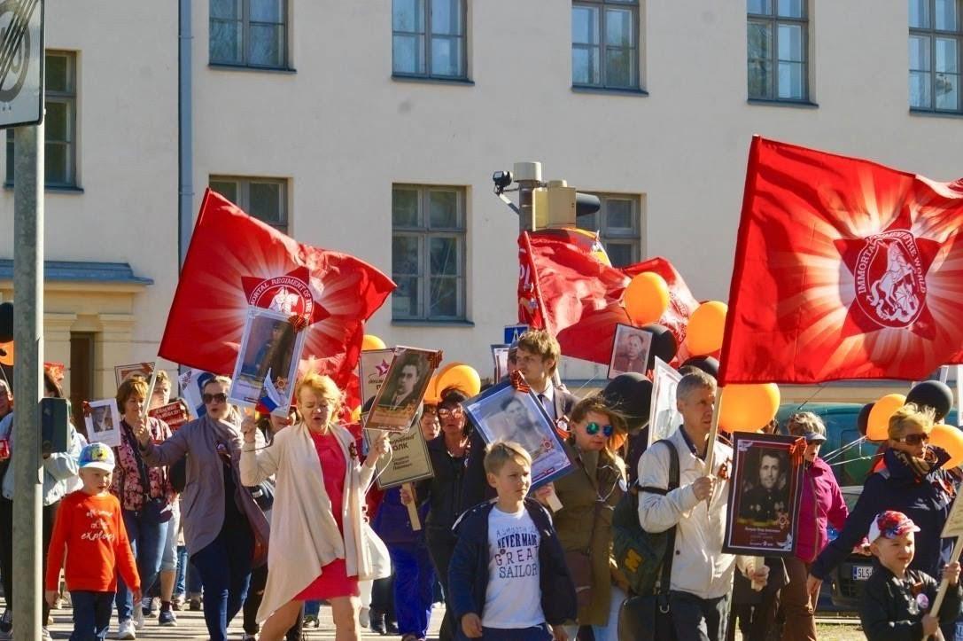 Бессмертный полк в Хельсинки (Финляндия), 9 мая 2018 года